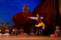 Dancer Zoltan Olah performs as Colas in the dance piece La Fille Mal Gardee or The Wayward Daughter Choreographed by Sir Frederick Ashton presented by the Hungarian National Ballet Company in Hungary State Opera House,  Budapest, Hungary, Tuesday, 23. November 2010. ATTILA VOLGYI