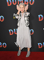 11 March 2019 - Hollywood, California - Dame Helen Mirren, Helen Mirren. &quot;Dumbo&quot; Los Angeles Premiere held at Ray Dolby Ballroom. Photo <br /> CAP/ADM/BT<br /> &copy;BT/ADM/Capital Pictures