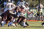Palos Verdes, CA 11/01/13 - Zach Heeger (West Torrance #5) in action during the West Torrance vs Palos Verdes Peninsula Varsity football game at Palos Verdes Peninsula High School.