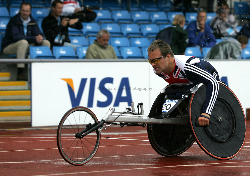 Photo: Paul Thomas..VISA Paralympic World Cup 2007. Athletics. 13/05/2007. .Brian Aldiss of Great Britain in the men's T54 400m.