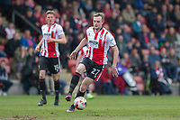 Carl Winchester of Cheltenham Town during the Sky Bet League 2 match between Cheltenham Town and Grimsby Town at the The LCI Rail Stadium,  Cheltenham, England on 17 April 2017. Photo by PRiME Media Images / Mark Hawkins.