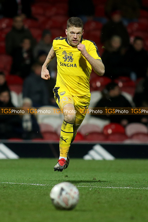 Jamie Mackie of Oxford United during Brentford vs Oxford United, Emirates FA Cup Football at Griffin Park on 5th January 2019