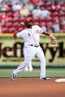 June 18, 2008: Cincinnati Reds second baseman Brandon Phillips (4) at The Great American Ballpark in Cincinnati, OH.  Photo by: Chris Proctor/Four Seam Images