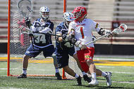 College Park, MD - April 8, 2017: Maryland Terrapins Matt Rambo (1) in action during game between Penn State and Maryland at  Capital One Field at Maryland Stadium in College Park, MD.  (Photo by Elliott Brown/Media Images International)