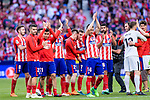 Atletico de Madrid squad during the La Liga match between Atletico Madrid and Eibar at Wanda Metropolitano Stadium on May 20, 2018 in Madrid, Spain. Photo by Diego Souto / Power Sport Images