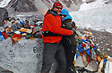 Mount Everestís base camp  - COLLECT - PLEASE CONTACT Kathy Loughridge for details.Marie CKathy Loughridge for Daily Express.Photo/Paul McErlane