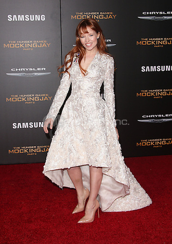 """Los Angeles, CA - November 16 Stef Dawson Attending Premiere Of Lionsgate's """"The Hunger Games: Mockingjay - Part 2"""" At Microsoft Theater On November 16, 2015. Photo Credit: Faye Sadou / MediaPunch"""