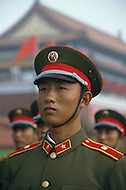 Beijing, China. October 1st, 1984. This huge parade is for the celebration of the 35th Anniversary of the Chinese Revolution. Beautiful and solemn, the Red Guard were at their best.
