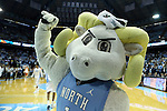 18 December 2013: Ramses, UNC's mascot. The University of North Carolina Tar Heels played the University of Texas Longhorns at the Dean E. Smith Center in Chapel Hill, North Carolina in a 2013-14 NCAA Division I Men's Basketball game. Texas won the game 86-83.
