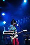 Kaohsiung, MegaPort Music Festival -- The Japanese band THE TELEPHONES during their energetic performance at the festival.