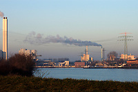 Industrial factories Harburg outside Hamburg, Germany