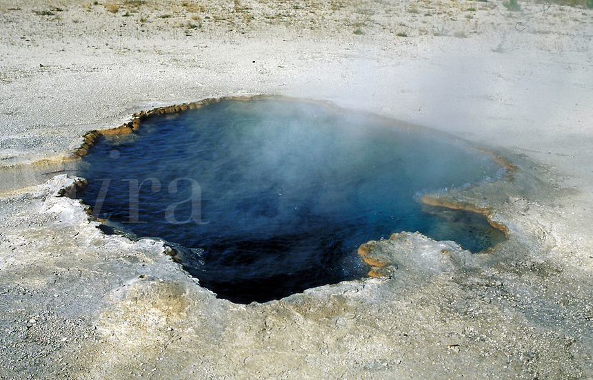 Thermal pool in Yellowstone National Park. Yellowstone National Park Wyoming USA.