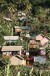 Bangas au bord de la mer au au nord de Mayotte.