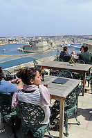 Restaurant bei dem Upper Barracca Garden  in Valletta, Malta, Europa