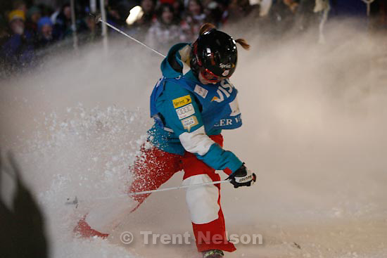 Trent Nelson  |  The Salt Lake Tribune.Hannah Kearney, USA, Moguls competition, Freestyle FIS World Cup at Deer Valley, Saturday, January 16, 2010.