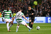 12th September 2017, Glasgow, Scotland; Champions League football, Glasgow Celtic versus Paris Saint Germain;  10 NEYMAR JR (psg) takes on Olivier Ntcham (cel)