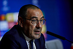 Maurizio Sarri during the Press Conference before the UEFA Champions League match between Atletico de Madrid and Juventus at Wanda Metropolitano Stadium in Madrid, Spain. September 17, 2019. (ALTERPHOTOS/A. Perez Meca)