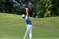 Poom Saksansin (THA) in action on the 2nd during Round 1 of the Maybank Championship at the Saujana Golf and Country Club in Kuala Lumpur on Thursday 1st February 2018.<br /> Picture:  Thos Caffrey / www.golffile.ie<br /> <br /> All photo usage must carry mandatory copyright credit (&copy; Golffile | Thos Caffrey)