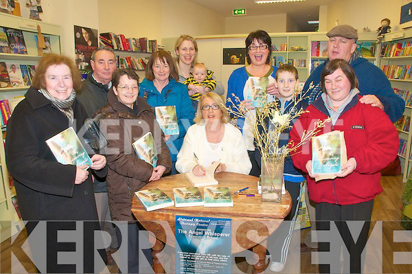 "Book Signing: Author Francessa Brown singing her book ""Heaven Can"" at Woulfe's Bookshop in Listowel on Friday last. L - R Molly Brown,AtHea, Chris & Ann Flahavan, Maureen Lyons, Lixnaw, Susan & Elliott Browne, Francesa Brown, Kay & Brogan McDoinnell, Fran Brown & Annie Walsh, Listowel."