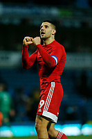 8th February 2020; Ewood Park, Blackburn, Lancashire, England; English Football League Championship Football, Aleksandar Mitrovic of Fulham applauds the travelling Fulham fans after his side earned a 1-0 win