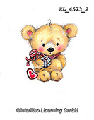 VALENTINE, VALENTIN, paintings+++++,KL4573/2,#v#, EVERYDAY ,sticker,stickers ,bear,bears