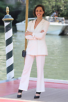 VENICE, ITALY - AUGUST 30:  Elena Cucci arrives in Darsena Excelsior during the 76th Venice Film Festival  on August 30, 2019 in Venice, Italy. (Photo by Mark Cape/Insidefoto)<br /> Venezia 01/09/2019