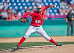 7 March 2016: Washington Nationals pitcher Oliver Perez on the mound during a Spring Training pre-season game against the Miami Marlins at Space Coast Stadium in Viera, Florida. The Nationals defeated the Marlins 7-4 in Grapefruit League play. Mandatory Credit: Ed Wolfstein Photo *** RAW (NEF) Image File Available ***