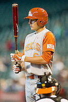 Erich Weiss #6 of the Texas Longhorns at bat against the Tennessee Volunteers at Minute Maid Park on March 3, 2012 in Houston, Texas.  The Volunteers defeated the Longhorns 5-4.  (Brian Westerholt/Four Seam Images)