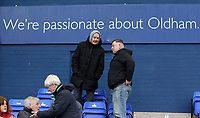 Oldham Athletic's fans ahead of the Sky Bet League 1 match between Oldham Athletic and Rotherham United at Boundary Park, Oldham, England on 13 January 2018. Photo by Juel Miah / PRiME Media Images.