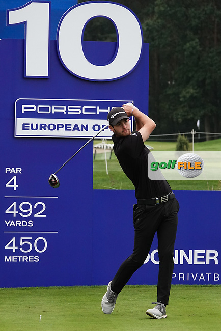 Maximilian Schmitt (GER) in action during the ProAm ahead of the Porsche European Open, Green Eagle Golf Club, Hamburg, Germany. 04/09/2019<br /> Picture: Golffile | Phil Inglis<br /> <br /> <br /> All photo usage must carry mandatory copyright credit (© Golffile | Phil Inglis)