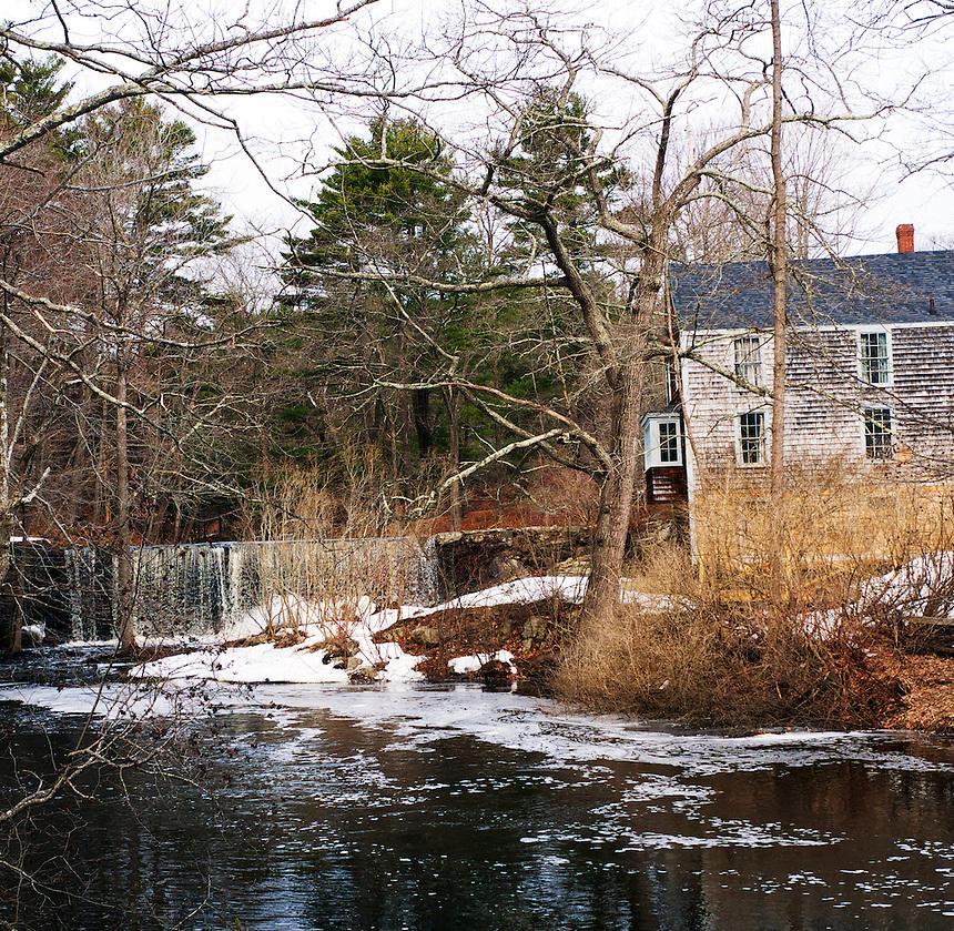 Mill and waterfall, Hampton Falls