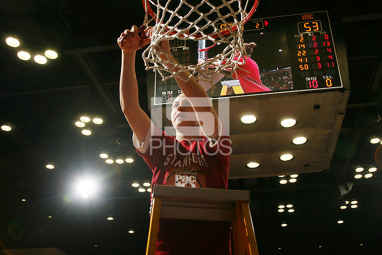 25 February 2007: J.J. Hones during Stanford's 56-53 win over USC at Maples Pavilion in Stanford, CA.
