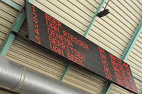SCHAATSEN: HEERENVEEN: 28-12-2013, IJsstadion Thialf, KNSB Kwalificatie Toernooi (KKT), uitslag 500m, scorebord, ©foto Martin de Jong