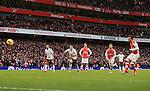 Arsenal's Santi Cazorla scoring his sides fourth goal<br /> <br /> Barclays Premier League - Arsenal vs Aston Villa - Emirates Stadium  - England - 1st February 2015 - Picture David Klein/Sportimage
