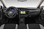 Stock photo of straight dashboard view of 2015 Toyota Auris Touring Sports Business Plus 5 Door Wagon Dashboard
