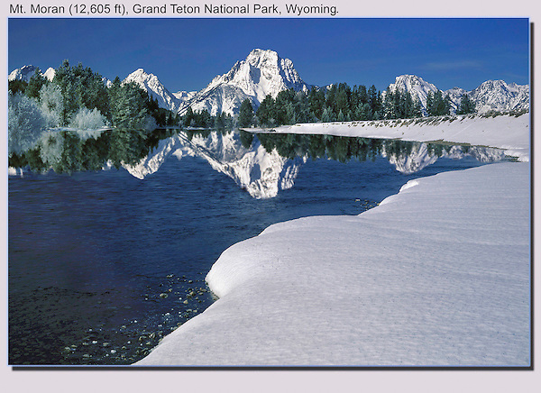 Photoshop. Reflection added to the Snake River, Grand Teton National Park, Wyoming.