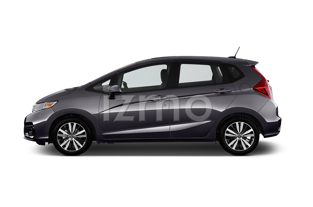 Car driver side profile view of a 2018 Honda Fit EX CVT 5 Door Hatchback