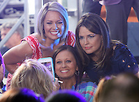 NEW YORK, NY-August 05: Dylan Dreyer,  Savannah Guthrie, on NBC's Today Show Citi Concert Series at Rockefeller Center in New York. NY August 05, 2016. Credit:RW/MediaPunch