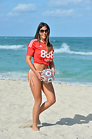 www.acepixs.com<br /> <br /> April 25 2017, Miami<br /> <br /> Star of French reality show Secret Story 9 and winner of the brunette girl of the year 2016 for Playboy Italy Claudia Romani wears a Nottingham Forest Football Club jersey for a photo shoot on April 25 2017 in Fort Lauderdale, Fl.  <br /> <br /> By Line: Solar/ACE Pictures<br /> <br /> ACE Pictures Inc<br /> Tel: 6467670430<br /> Email: info@acepixs.com<br /> www.acepixs.com