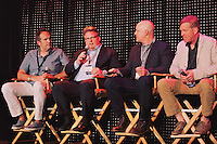 Hugo Matheson, David Burke, Alan Jackosn, and Spike Gjerde attend a panel at the Restaurant High Summit.
