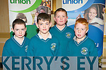 QUIZ MASTERS: The students of the Holy Family NS, Rathmore enjoying the Chapter 23 of the Irish League of Credit Unions table quiz at the Gleneagle hotel, Killarney on Sunday l-r: Diarmuid Nagle, Michael O'Mahoney, Darren O'Connor and Shane Carmody.