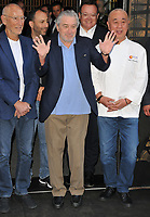 Meir Teper, Robert De Niro and Nobu Matsuhisa at the Nobu Hotel Shoreditch official launch party, Nobu Hotel Shoreditch, Willow Street, London, England, UK, on Tuesday 15 May 2018.<br /> CAP/CAN<br /> &copy;CAN/Capital Pictures