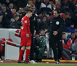 Jurgen Klopp manager of Liverpool hugs substitute Oviemuno Ejaria of Liverpool during the Premier League match at the Anfield Stadium, Liverpool. Picture date: November 26th, 2016. Pic Simon Bellis/Sportimage