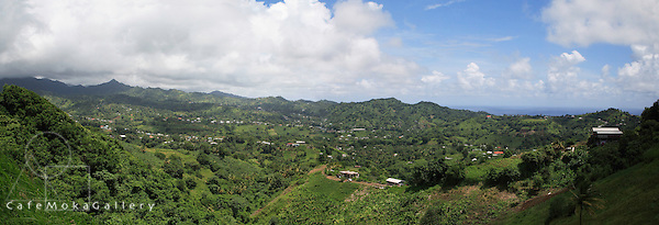 Mulit-shot panoramic of central St Vincent