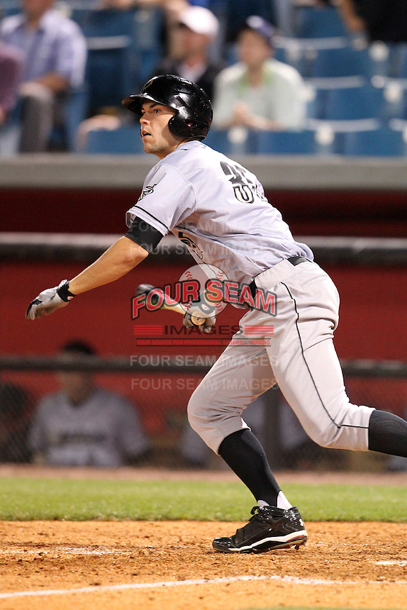 Omaha Storm Chasers first baseman Eric Hosmer #35 at bat during a game against the Nashville Sounds at Greer Stadium on April 25, 2011 in Nashville, Tennessee.  Omaha defeated Nashville 2-1.  Photo By Mike Janes/Four Seam Images