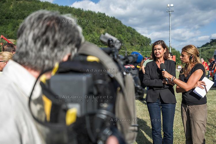 Laura Boldrini arriva a Borgo d'Arquata (AP) - Earthquake -  Terremoto Ascoli Piceno on August 24, 2016, in Marche, Italy. Photo by Adamo Di Loreto