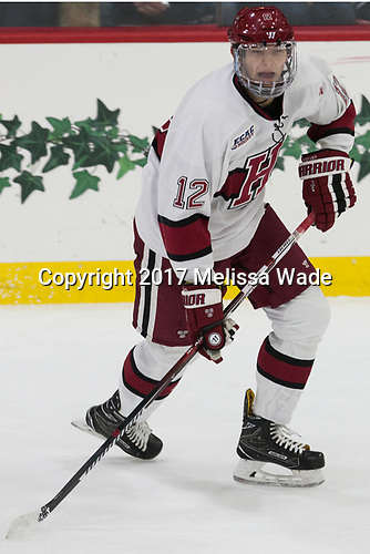 John Marino (Harvard - 12) - The Harvard University Crimson tied the visiting Yale University Bulldogs 1-1 on Saturday, January 21, 2017, at the Bright-Landry Hockey Center in Boston, Massachusetts.