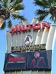 BARRY MANILOW - MUSIC AND PASSION.playing at the Vegas Hilton Hotel in Las Vegas, Nevada..(Hotel / Theatre Marquee / Star Trek The Experience ).July 7, 2005.
