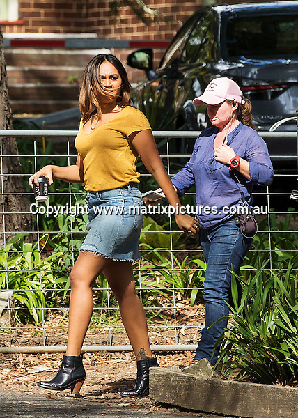 19 APRIL 2016 SYDNEY AUSTRALIA<br /> WWW.MATRIXPICTURES.COM.AU <br /> <br /> EXCLUSIVE PICTURES<br /> <br /> Jessica Mauboy pictured on set of new drama series The Secret Daughter filming at Curzon Hall.