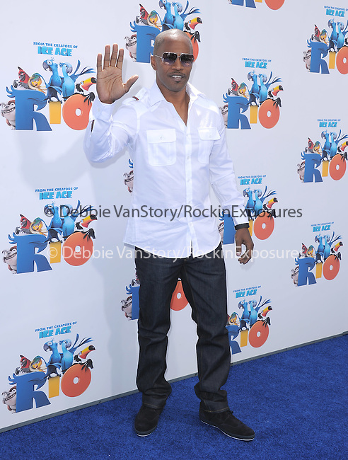 Jamie Foxx at The Twentieth Century Fox and Blue Sky Studios L.A. Premiere of RIO held at The Grauman's Chinese Theatre in Los Angeles, California on April 10,2011                                                                               © 2010 Hollywood Press Agency